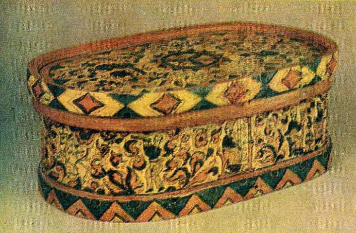 Роспись хлебницы. <br/>Середина 19 века