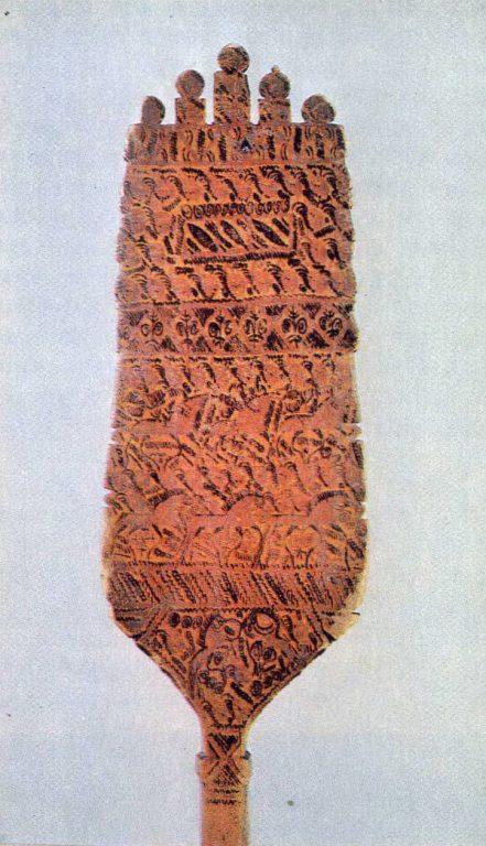 Прялка с мезенской росписью. <br/>Последняя четверть 19 века