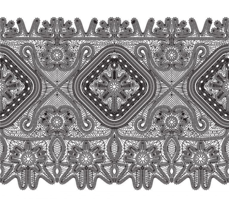 Реконструкция орнамента елецкого кружева
