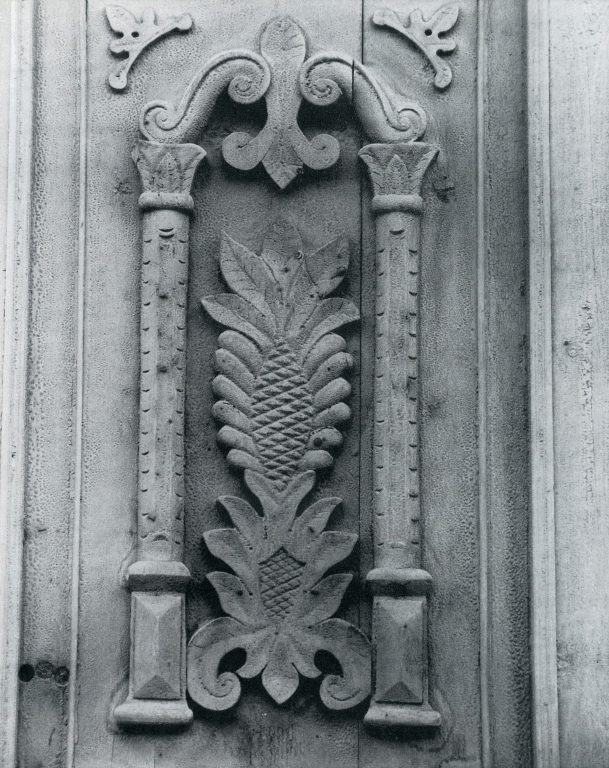 Entrance door. Detail. <br/>Late 19th century - early 20th century