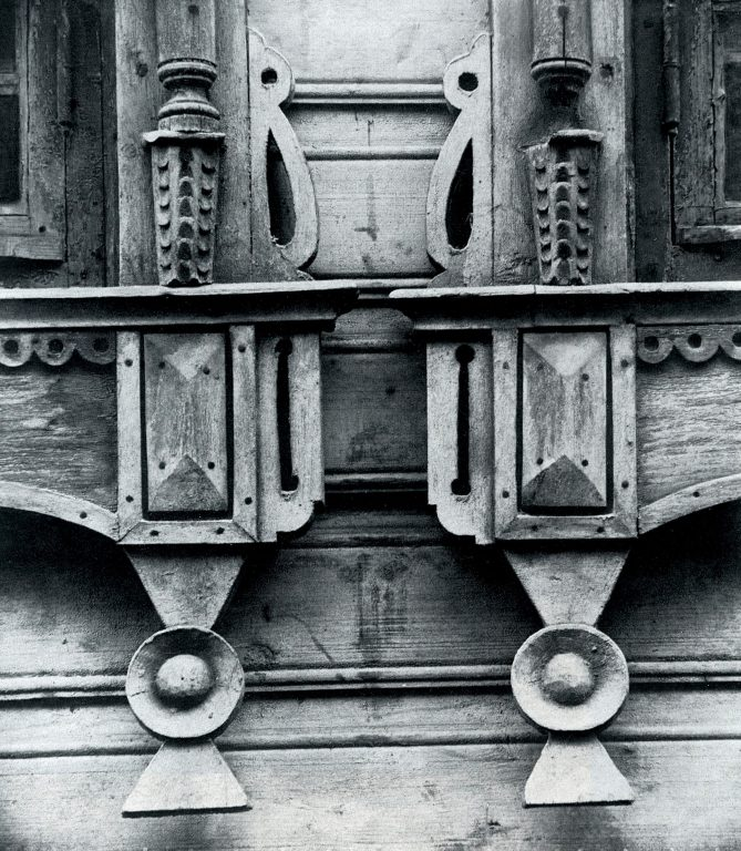 Window frame. Detail. <br/>Late 19th century - early 20th century