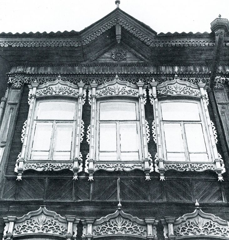 Facade of a house. Fragment. <br/>Late 19th century - early 20th century