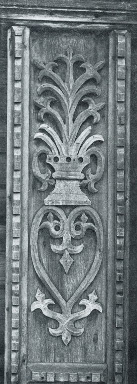 Side pilaster. Carving. Detail. <br/>Late 19th century - early 20th century