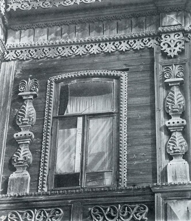 Bay window. Detail. <br/>Late 19th century - early 20th century