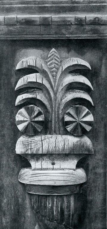 Вертикальное обрамление фасада. Фрагмент. <br/>Конец 19 века - начало 20 века