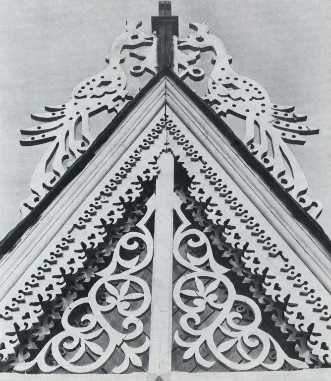 House gable. Detail. <br/>Late 19th century - early 20th century