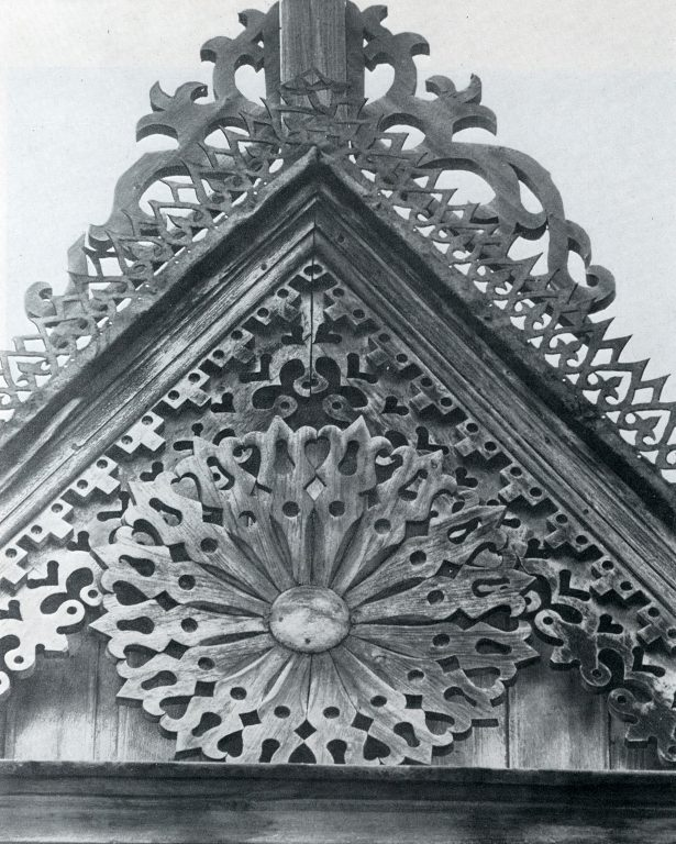 House gable with a rosette