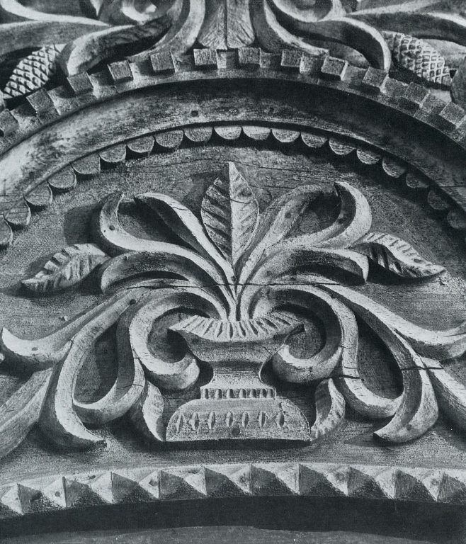 Upper window frame. Detail. <br/>Late 19th century - early 20th century
