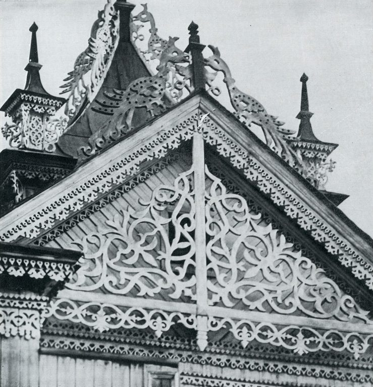 Gable over a bay window . <br/>Late 19th century - early 20th century