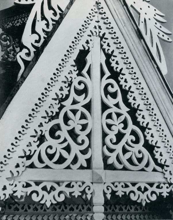 Upper part of a bay window. Detail. <br/>Late 19th century - early 20th century