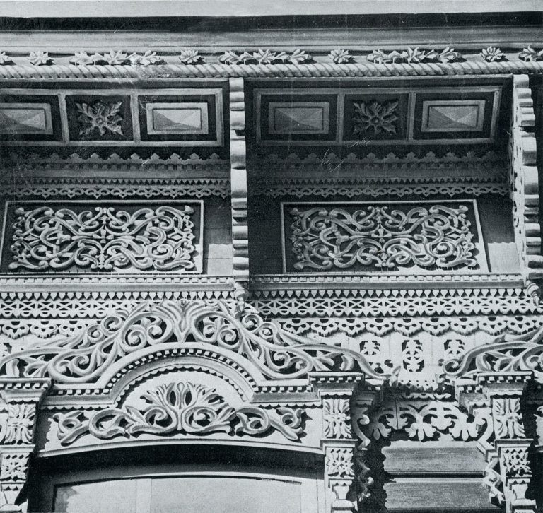 House cornice. Detail. <br/>Late 19th century - early 20th century