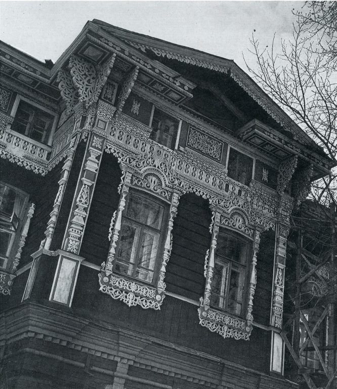 Дворовый фасад. Фрагмент. <br/>Конец 19 века - начало 20 века