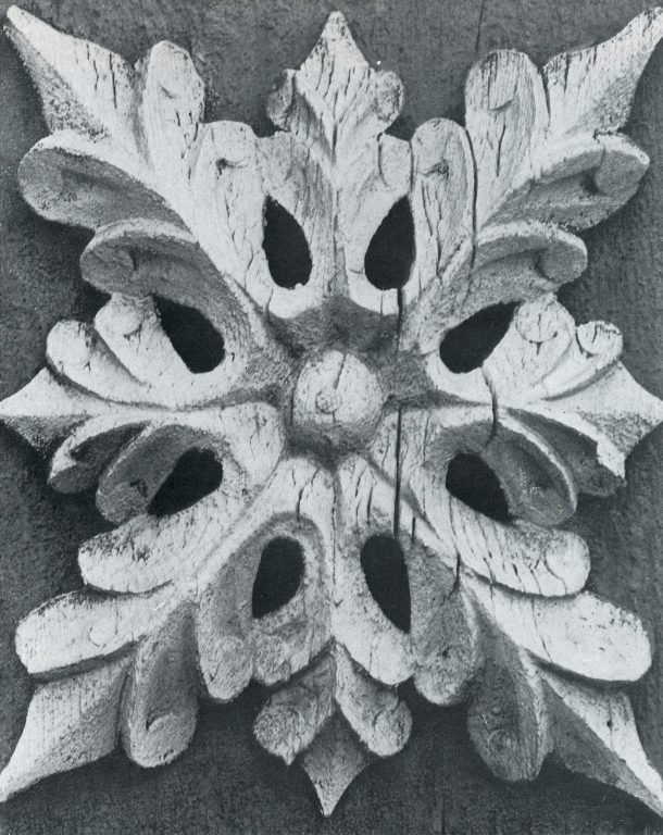 Roof window decoration. Detail. <br/>Late 19th century - early 20th century