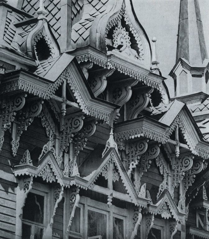 Facade of a house. Detail. <br/>Late 19th century - early 20th century