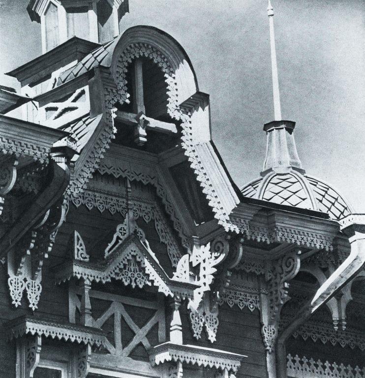 Кровля дома. Фрагмент. <br/>Конец 19 века - начало 20 века