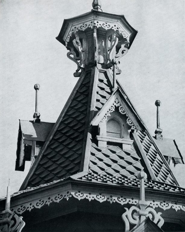 Central tented roof. <br/>Late 19th century - early 20th century