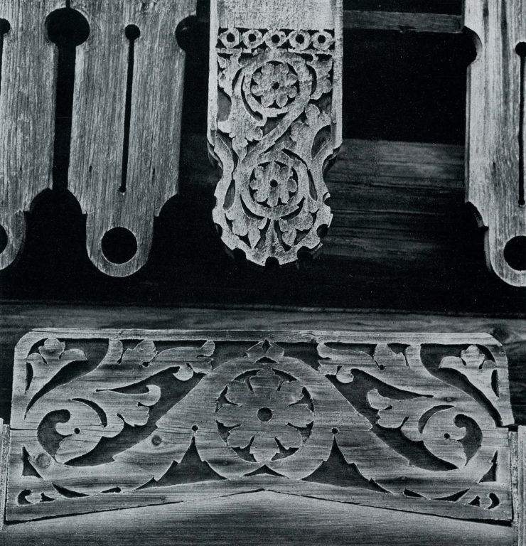 Wood carved frieze. Detail. Late 19th century - early 20th century