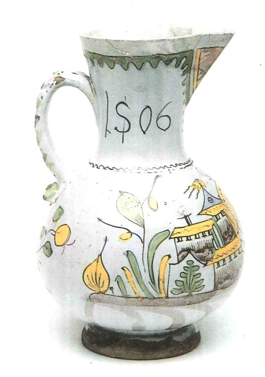 Pitcher. Late 18th mid 19th centuries