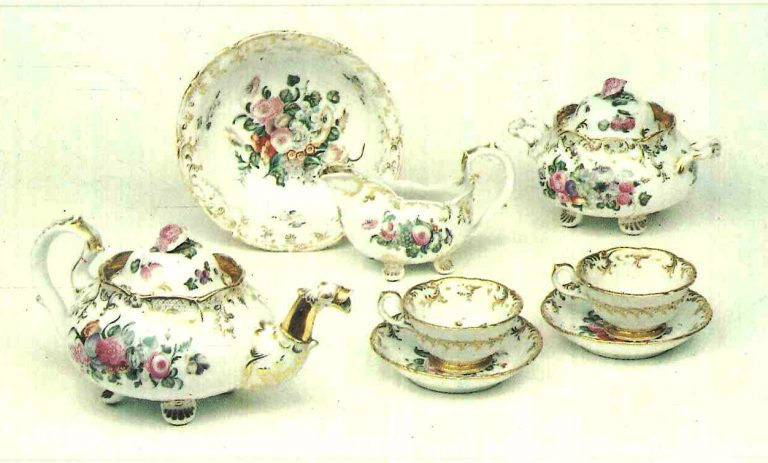 Tea-set from the Terekhovs-Kiselyov factory. <br/>Late 18th mid 19th centuries