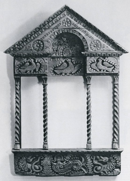 Izba attic window frame. <br/>Second half of 19th century