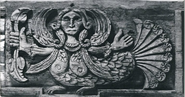 "Izba (log house) fascia board. ""Sirin"" fragment. <br/>Second half of 19th century"