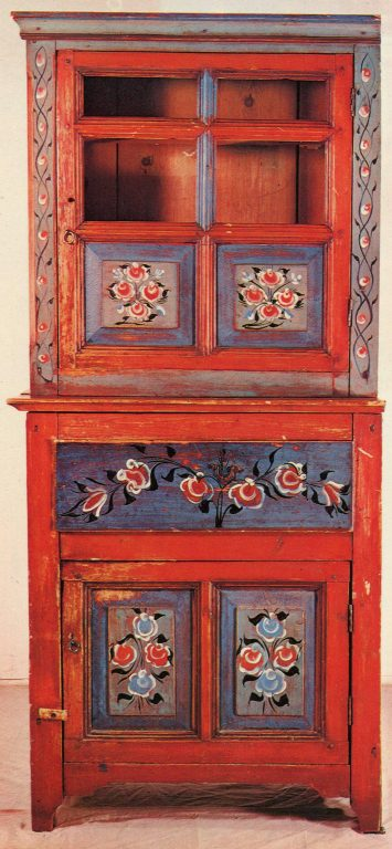 Peasant cupboard. <br/>Late 19th century