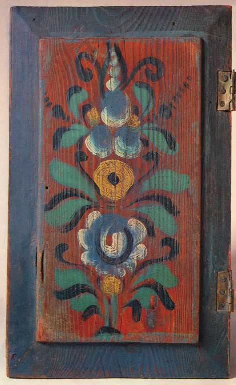 Peasant cupboard door. <br/>Early 20th century