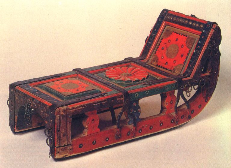 Maslenitsa sleigh. Early 20th century