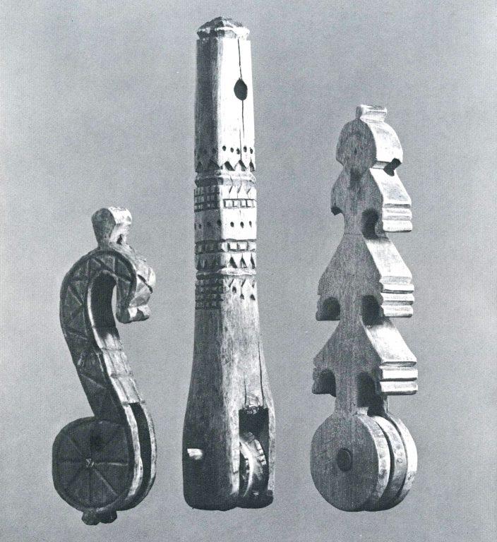 """Babushka"" loom pulley. <br/>19th century"