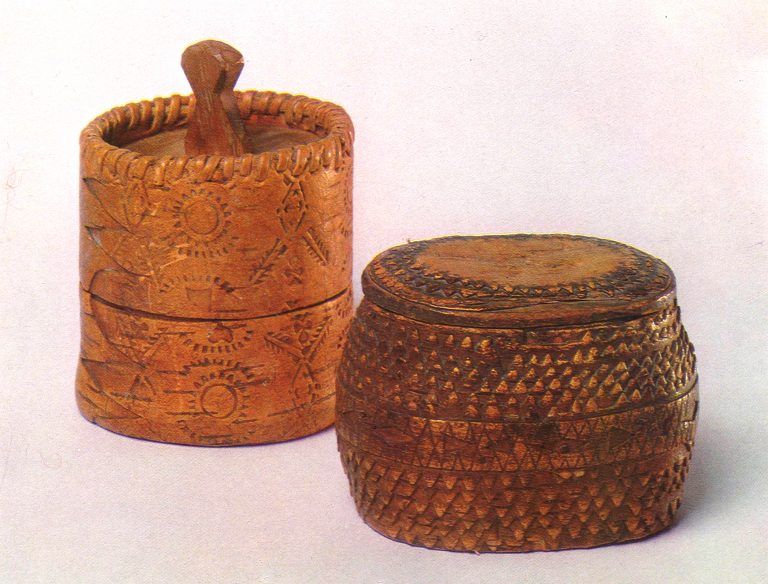 Tuesok (birch bark basket). <br/>Late 19th century