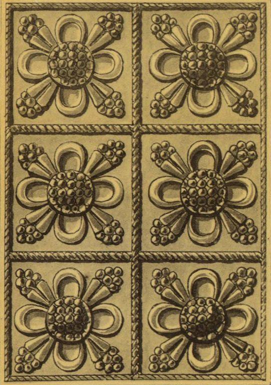 Серебряная басма на иконе. <br/>17 век