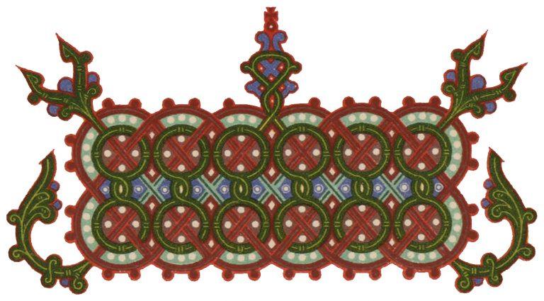 Заставка псалтири. 15 век