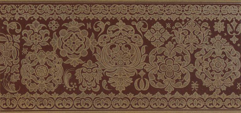 Орнамент доличного иконы кисти Симона Ушакова. <br/>1682 год
