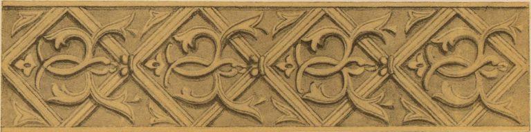 Резной по дереву орнамент царских врат. <br/>16 век