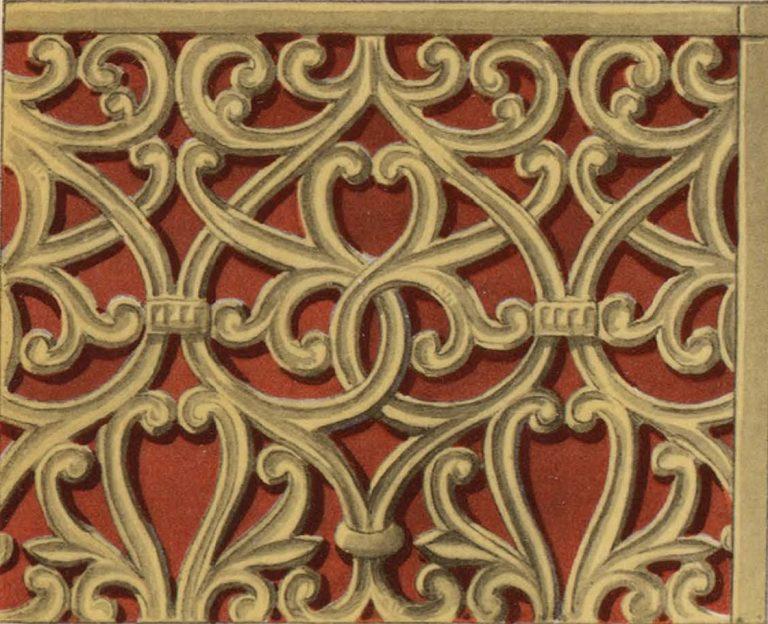 Резной по дереву орнамент царских врат. 16 век