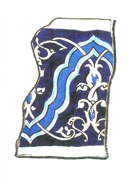 Орнаментированный изразец. 15 век