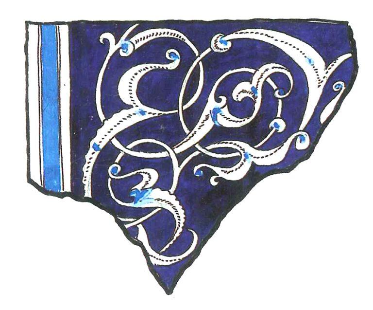 Орнаментированный изразец. <br/>15 век