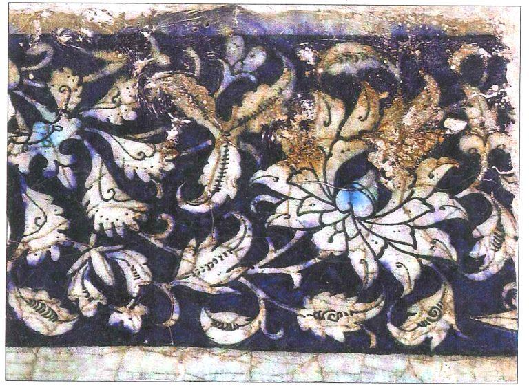 Реконстукция узора орнаментированного изразца Золотой Орды