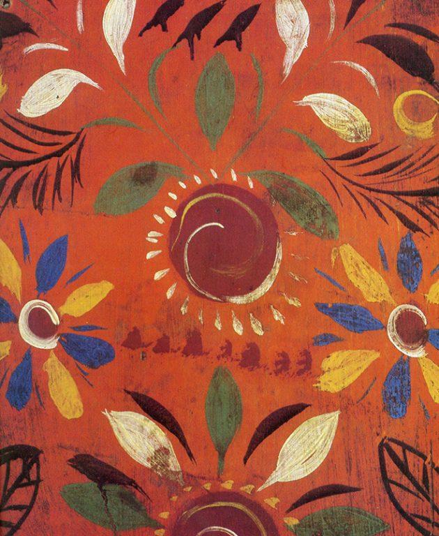 Прялка, роспись лопасти. <br/>Рубеж 19-20 веков