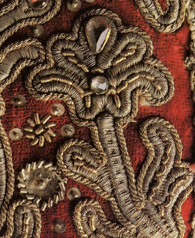Kokoshnik headdress. Detail. <br/>Late 18th - early 19th centuries