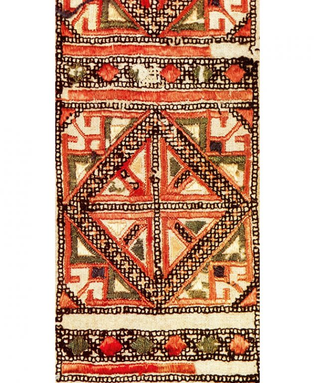 Hip jewelry of the lower Chuvash. Fragment. <br/>Early 19th century