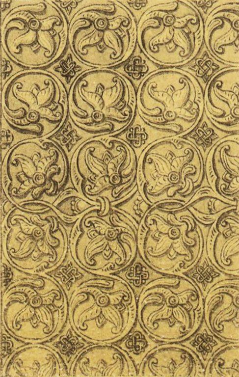 Орнамент серебряной басмы оклада иконы Смоленской Божей Матери. <br/>16 век