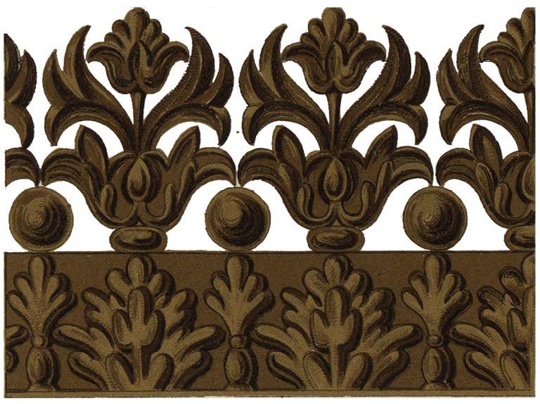 Резной по дереву орнамент царских врат. <br/>17 век