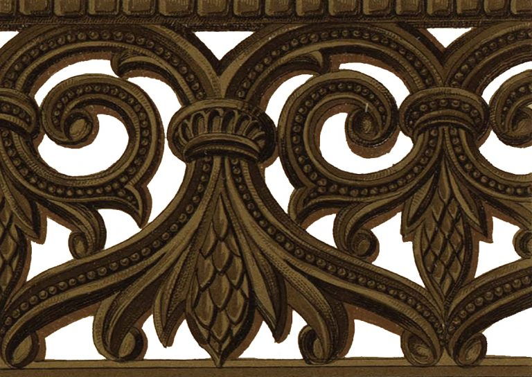 Wood carved ornament of the Holy gates. 16th century