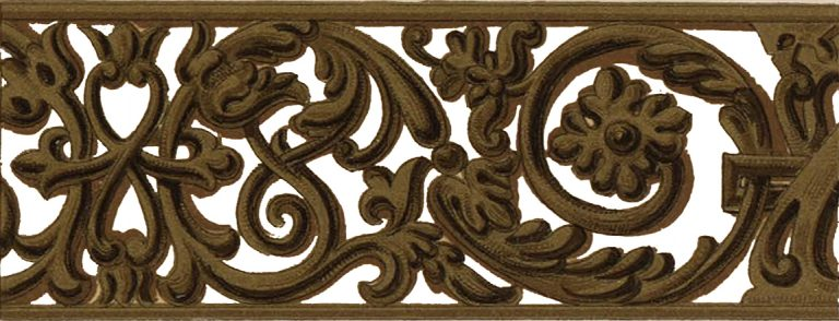 Wood carved ornament of the Holy gates. <br/>17th century