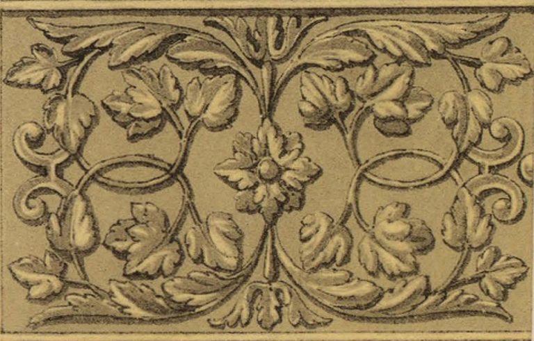 Серебряный чеканный орнамент на кадиле . <br/>16 век
