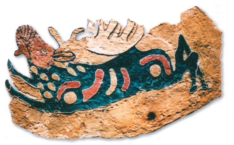 Saddle cover fragment. The elk figure is turned left. 4-3 century BC