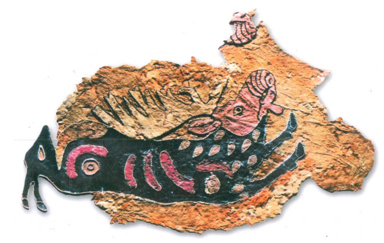 Saddle cover fragment. The elk figure is turned right. <br/>4-3 century BC
