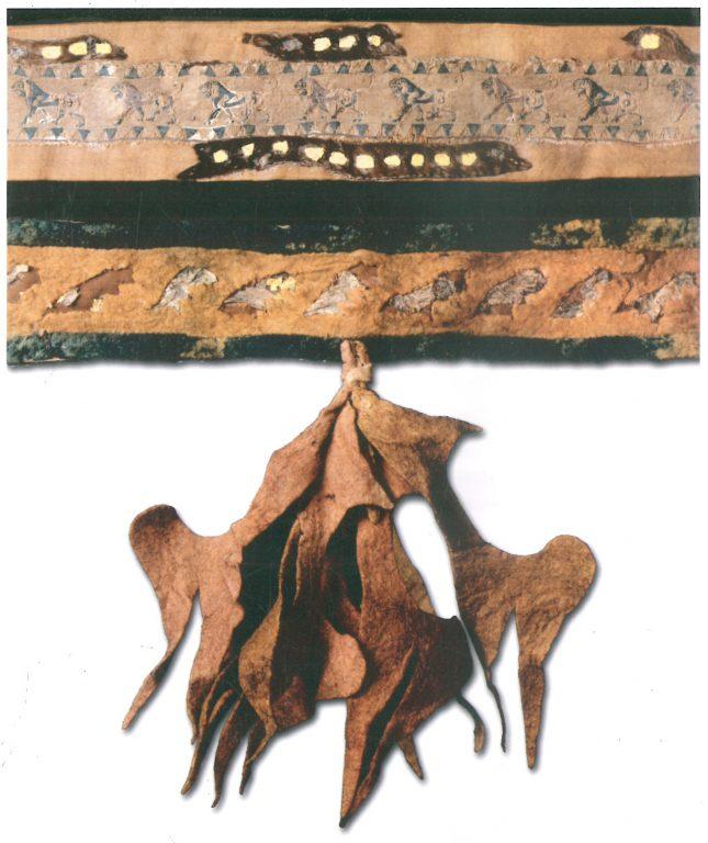 Кисть чепрака, покрытого шерстяной тканью. <br/>4-3 века до н.э.