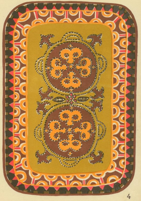 Carpet. Applique work with pieces of fabric, band and thin rope.. <br/>1929 year